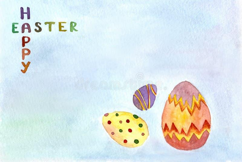 Wielkanoc karty szczęśliwy obraz royalty free