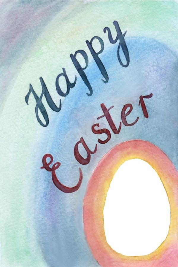 Wielkanoc karty szczęśliwy fotografia royalty free
