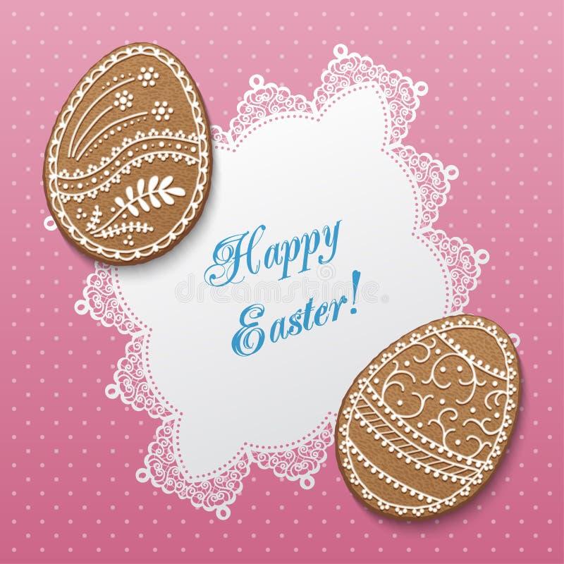 Wielkanoc karty szczęśliwy royalty ilustracja