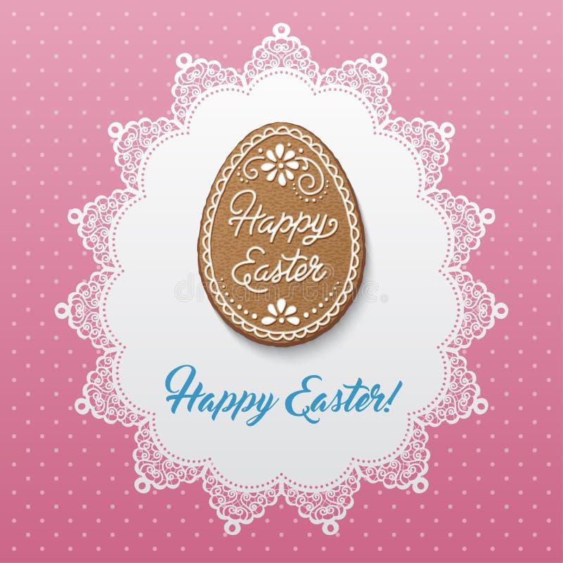 Wielkanoc karty szczęśliwy ilustracja wektor