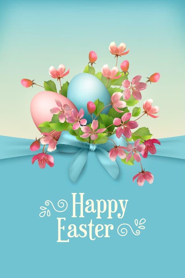 Wielkanoc karty szczęśliwy ilustracji