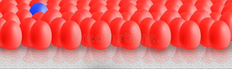 Wielkanoc kolor jaj ilustracja wektor