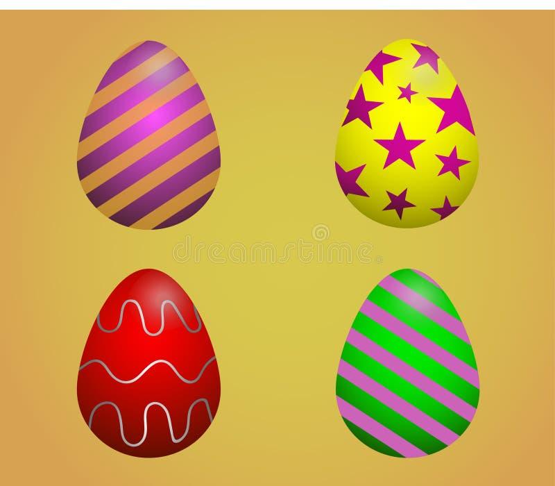 Wielkanoc kolor jaj Mieszkania stylowy kartka z pozdrowieniami obrazy royalty free