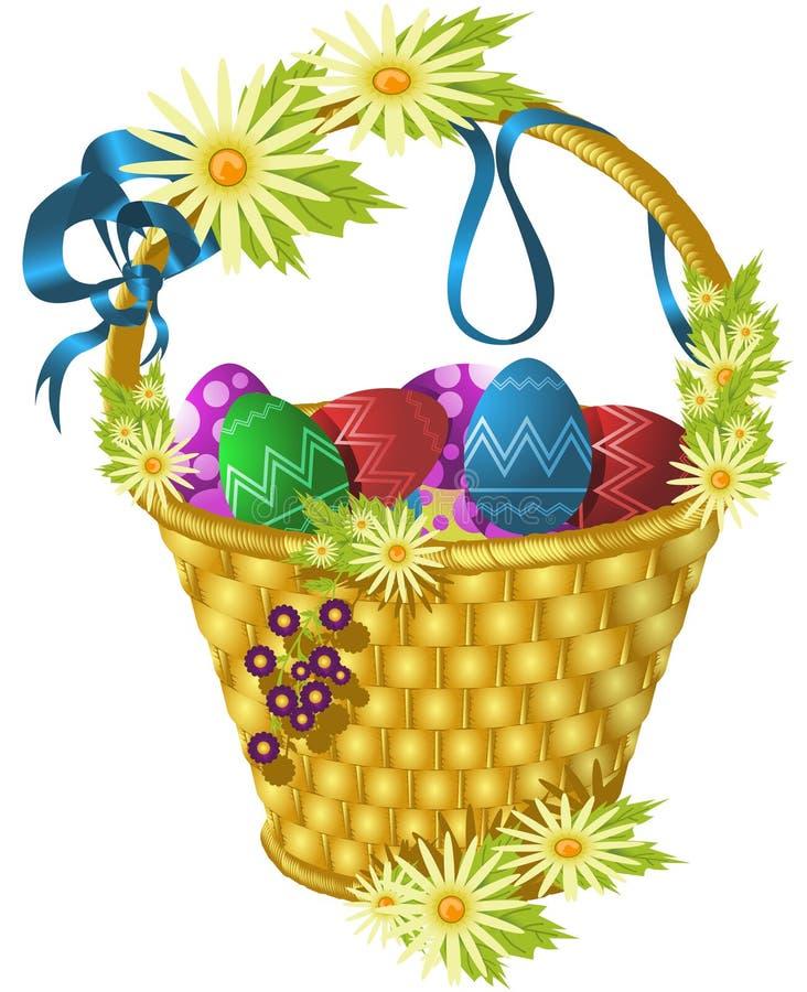 Wielkanoc koszykowy ilustracja wektor