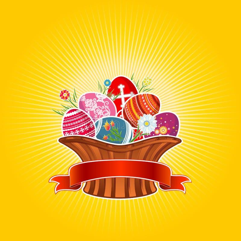 Wielkanoc koszykowy wektora ilustracja wektor