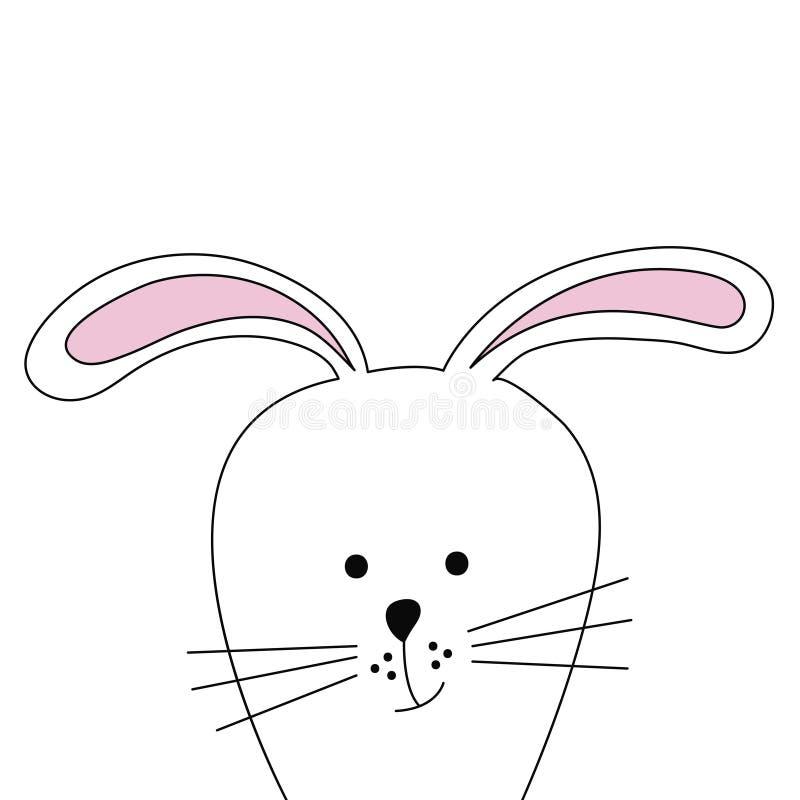 wielkanoc królik Płaska ilustracja royalty ilustracja