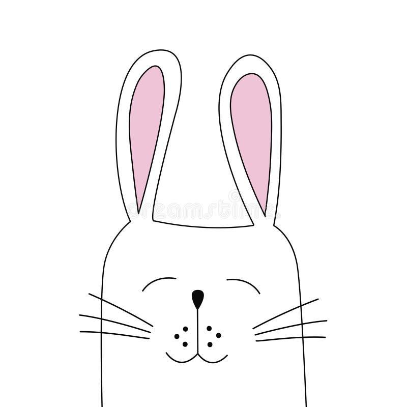 wielkanoc królik Płaska wektorowa ilustracja ilustracji