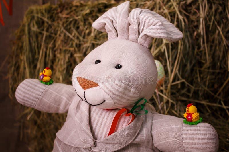Wielkanoc, królik, Wielkanocny królik, Wielkanocny dekorować obraz royalty free