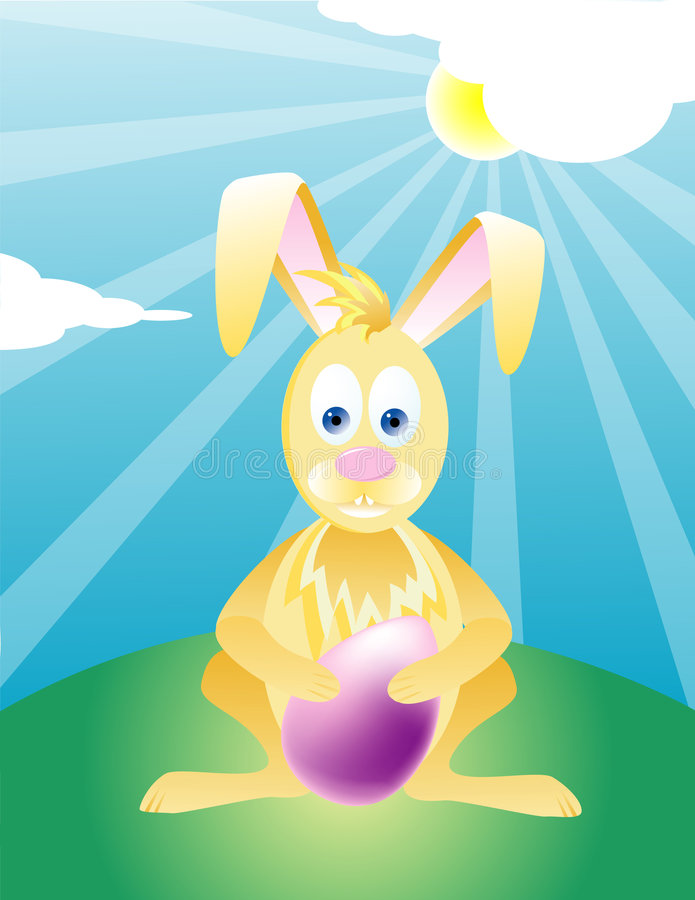 Wielkanoc królika ilustracja obraz royalty free