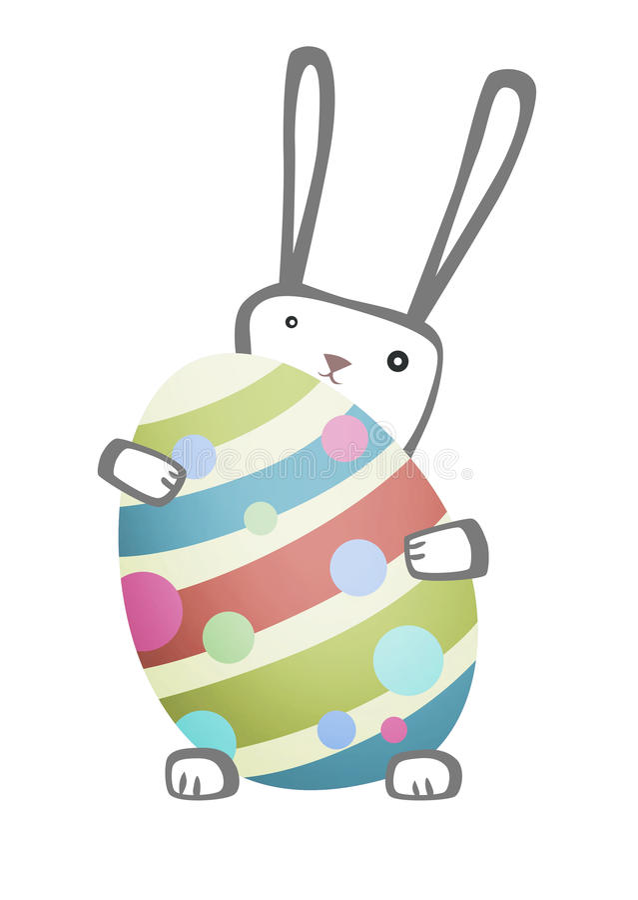 Wielkanoc królika jajko obraz royalty free