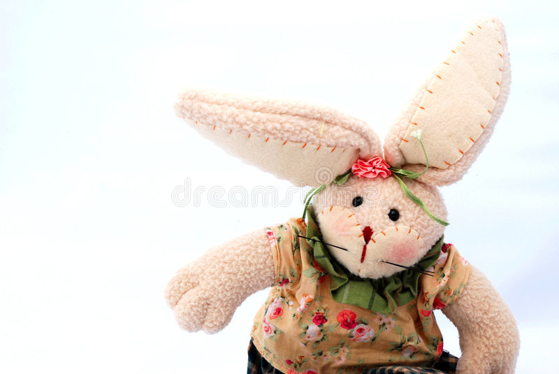 Wielkanoc królika zabawka obrazy royalty free
