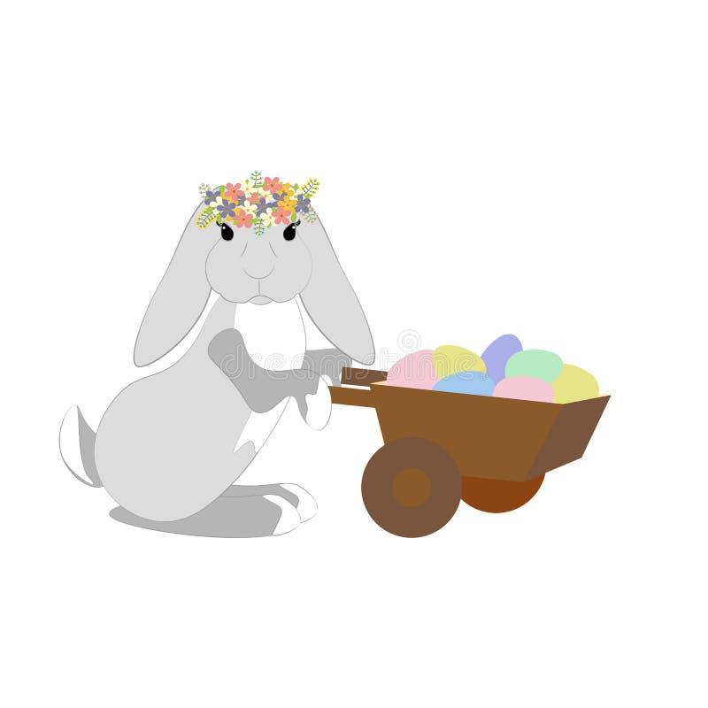 Wielkanoc kr?lika jaj ilustracja wektor
