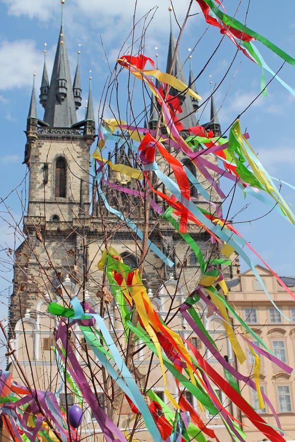Wielkanoc rynek w Praga, republika czech obrazy royalty free