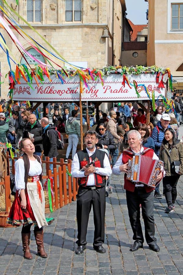 Wielkanoc rynek w Praga, republika czech obraz royalty free