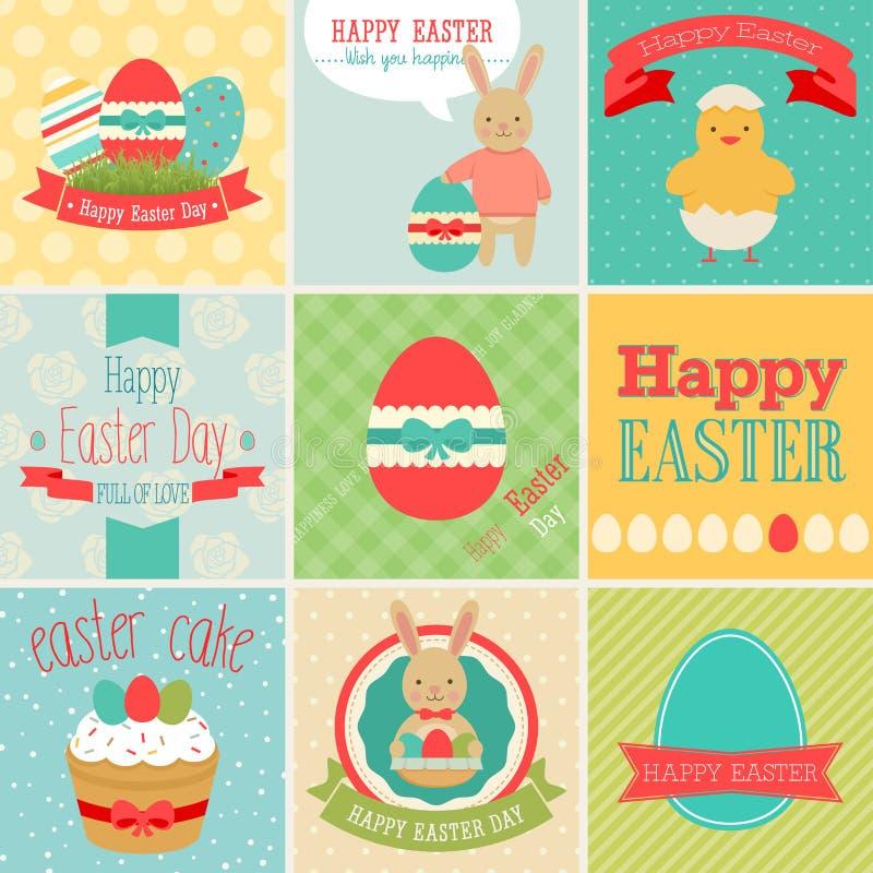 Wielkanoc set ilustracja wektor