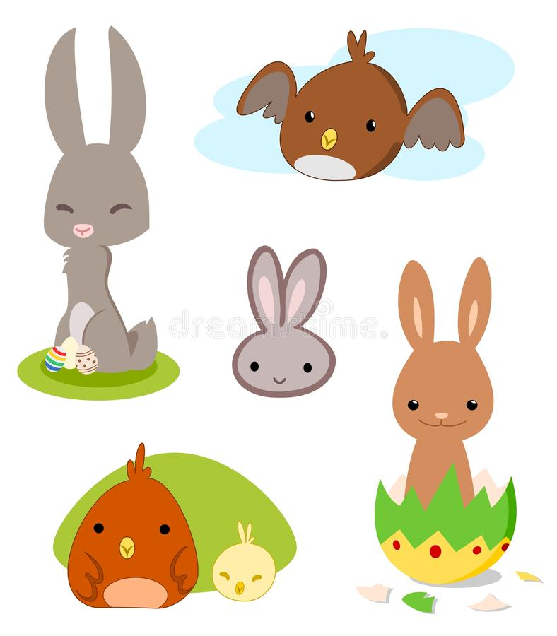 Wielkanoc set ilustracji