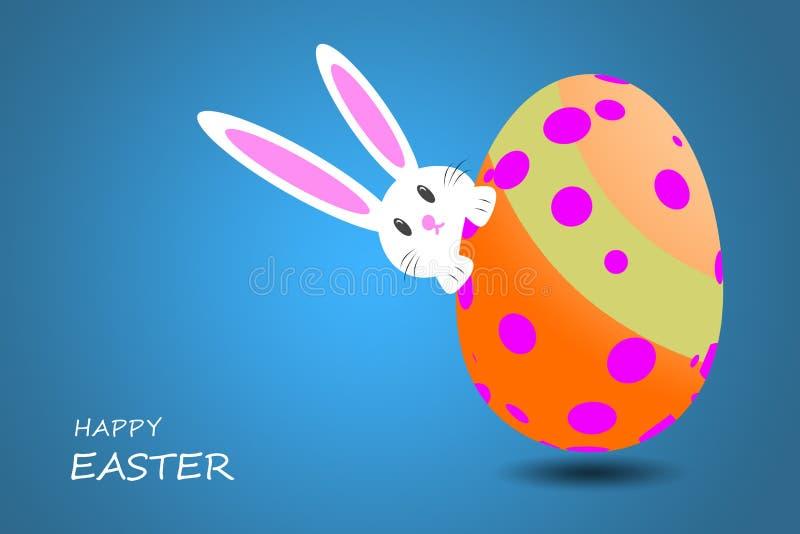 wielkanoc szczęśliwy Ślicznego królika z pięknie wzorzystym ilustracji