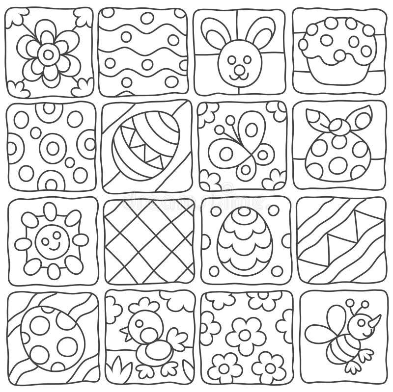 Wielkanoc wzór w dziecka ` s stylu ilustracja wektor