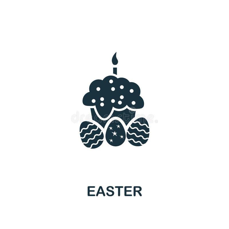 Wielkanocna ikona Kreatywnie elementu projekt od Easter ikon inkasowych Piksel doskonalić Wielkanocna ikona dla sieć projekta, ap ilustracja wektor