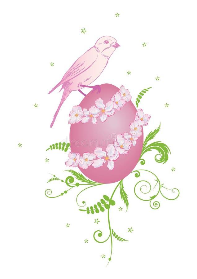 Wielkanocna ilustracja z ptakiem ilustracji