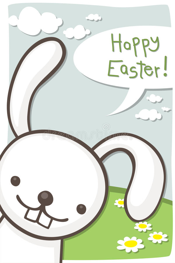 Download Wielkanocna karta ilustracja wektor. Obraz złożonej z niebo - 27343915