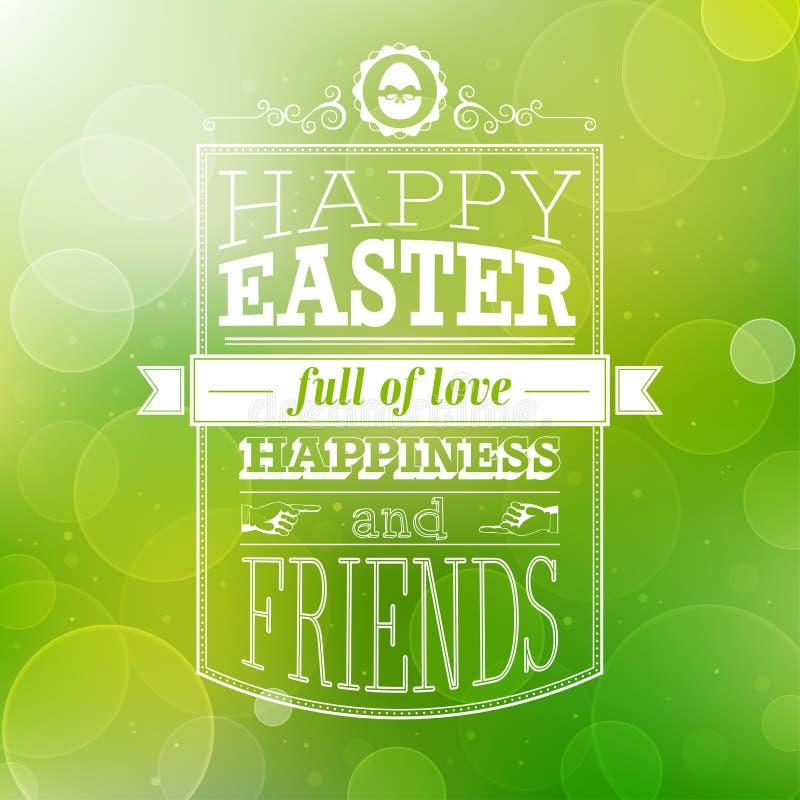 Wielkanocna karta. ilustracja wektor