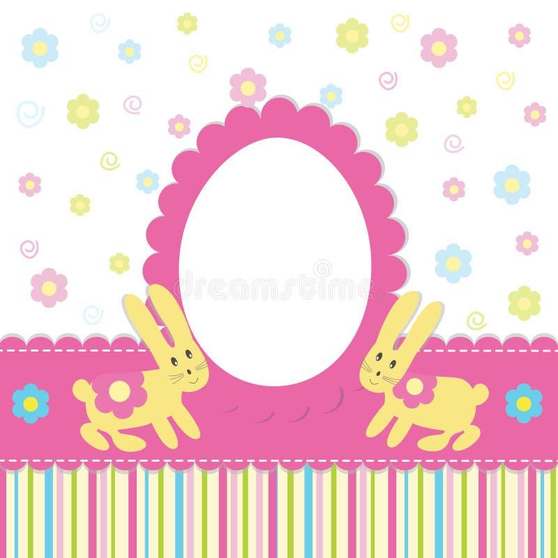 Wielkanocna karta ilustracji
