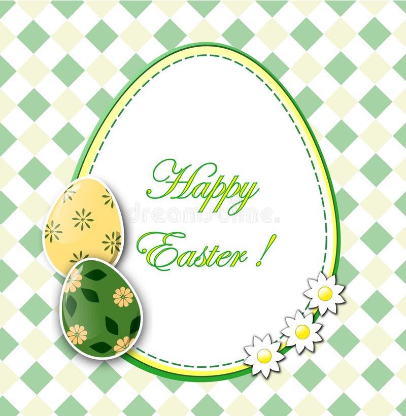 Wielkanocna karta ilustracja wektor