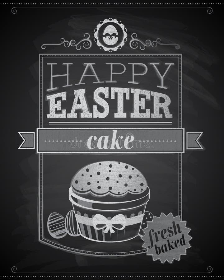 Wielkanocna karta. ilustracji