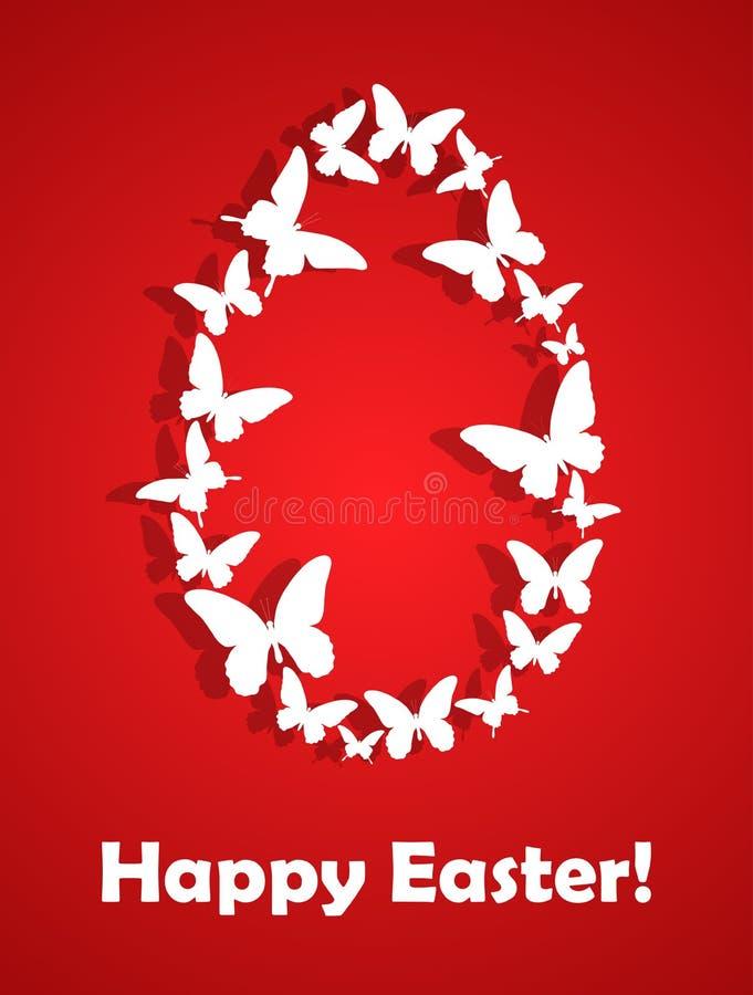 Wielkanocna karta z motylami