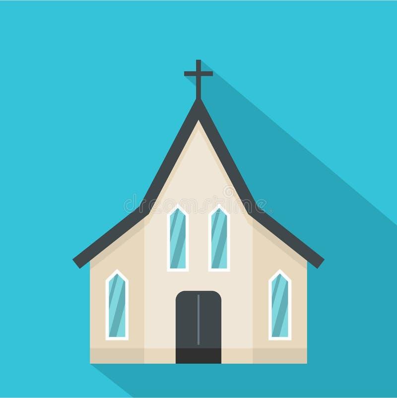Wielkanocna kościelna ikona, mieszkanie styl ilustracja wektor