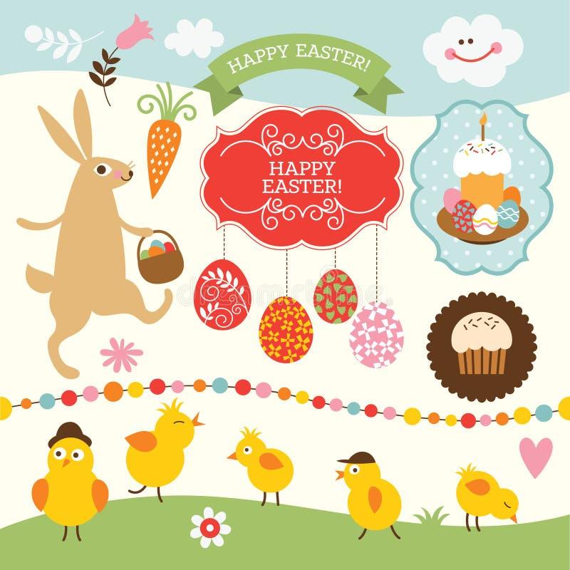 Wielkanocna kolekcja royalty ilustracja
