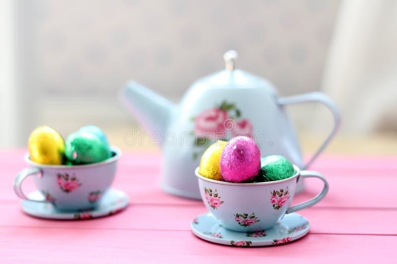 Wielkanocna Popołudniowa herbata zdjęcie stock