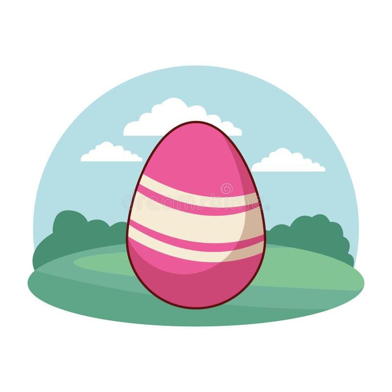 Wielkanocnego jajka świętowania natury tła round kolorowa rama royalty ilustracja