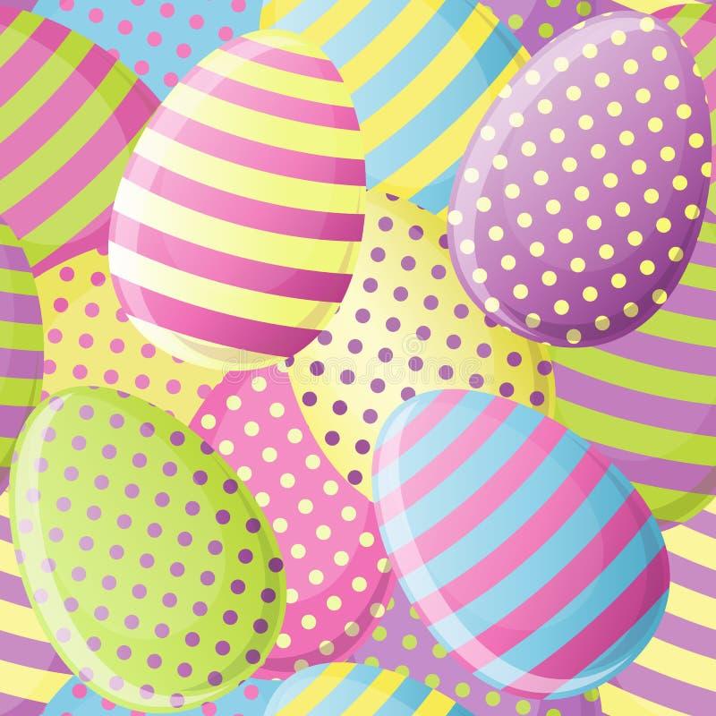 Wielkanocnego jajka bezszwowy wzór ilustracji