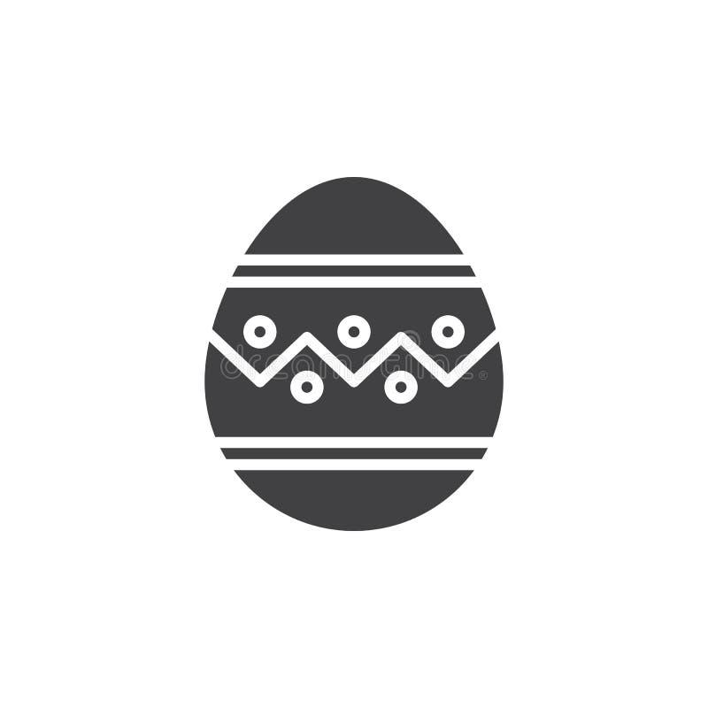 Wielkanocnego jajka ikony wektor, wypełniający mieszkanie znak, stały piktogram odizolowywający na bielu ilustracji