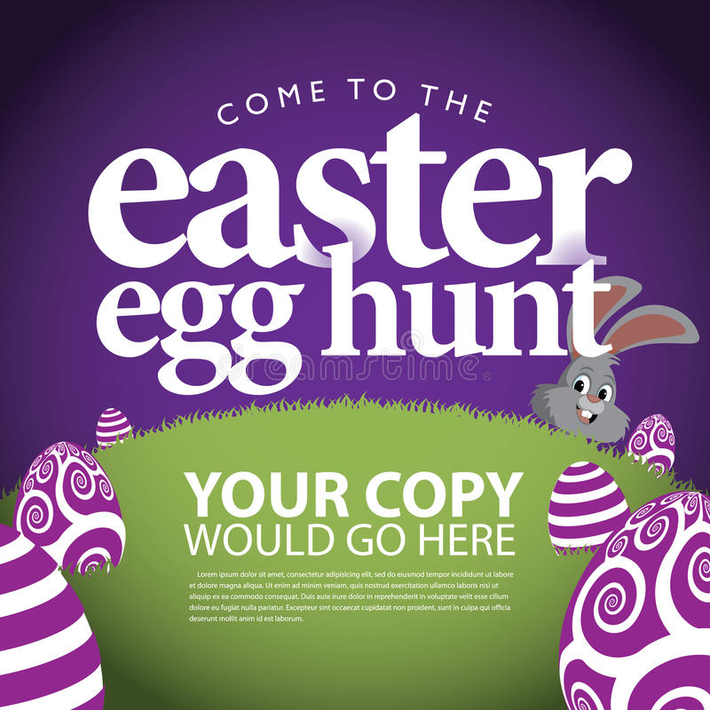 Wielkanocnego jajka polowania reklamy tło ilustracji