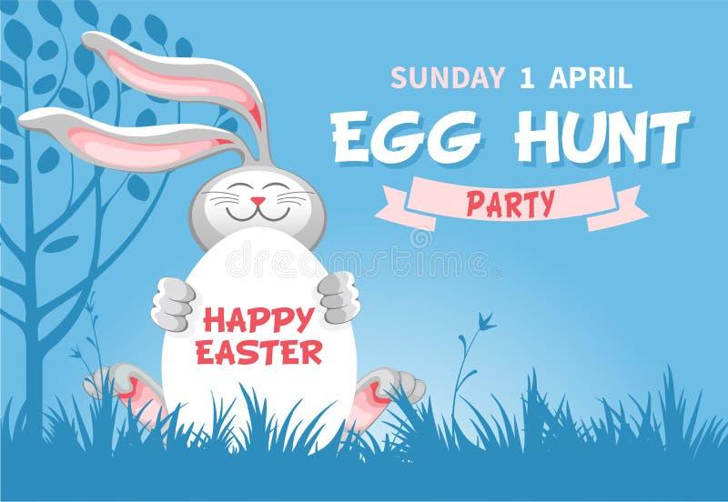 Wielkanocnego jajka polowania ulotki szablon ilustracji