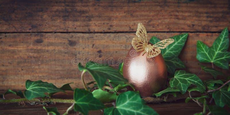 Wielkanocnego jajka sztandar obrazy stock
