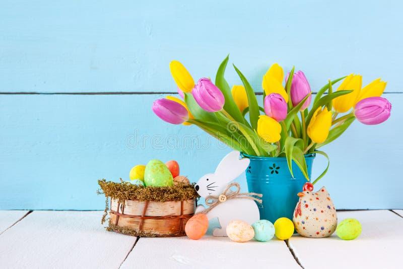 Wielkanocnego jajka sztandar zdjęcia royalty free