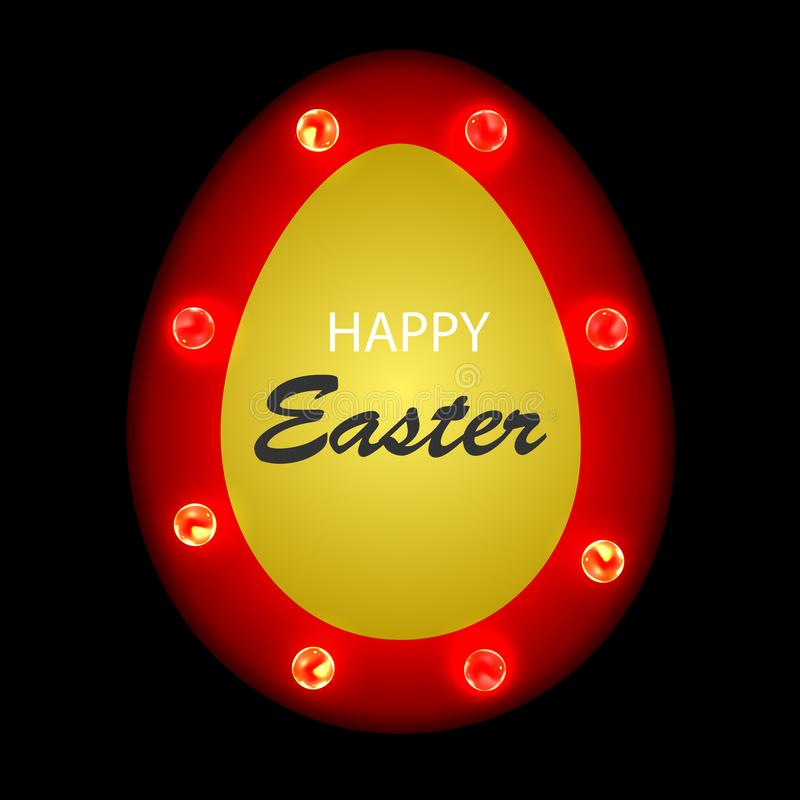 Wielkanocnego jajka sztandaru retro pojęcie royalty ilustracja
