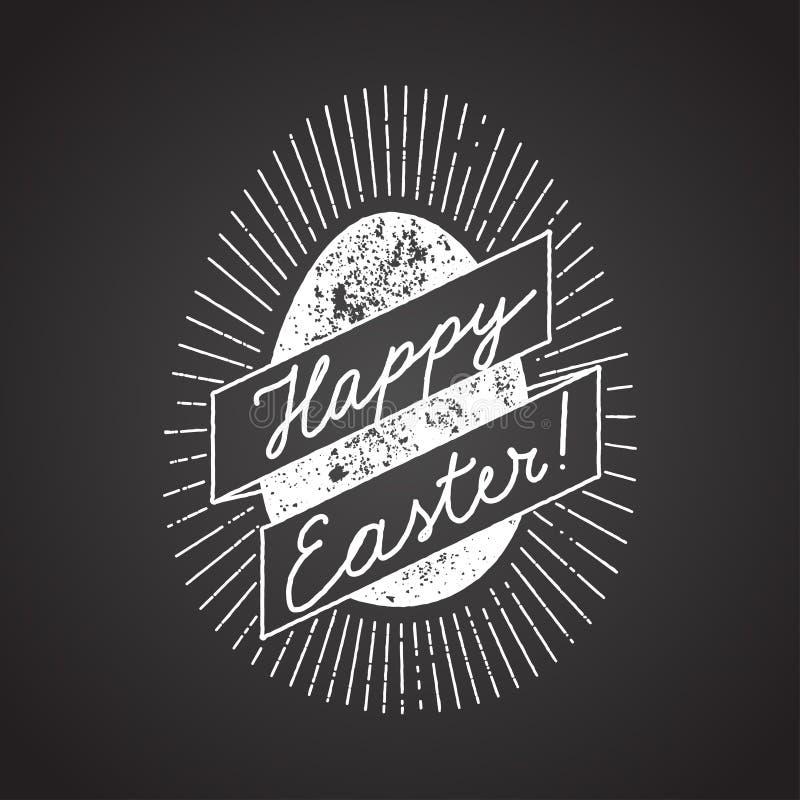 Wielkanocnego jajka znak kredowa kaligrafia