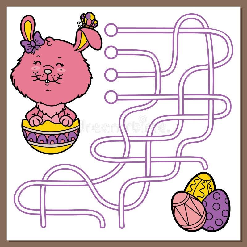 Wielkanocnego królika gra royalty ilustracja