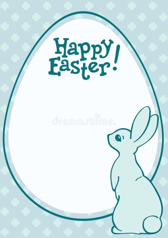 Wielkanocnego królika i jajka wakacje pocztówka ilustracji