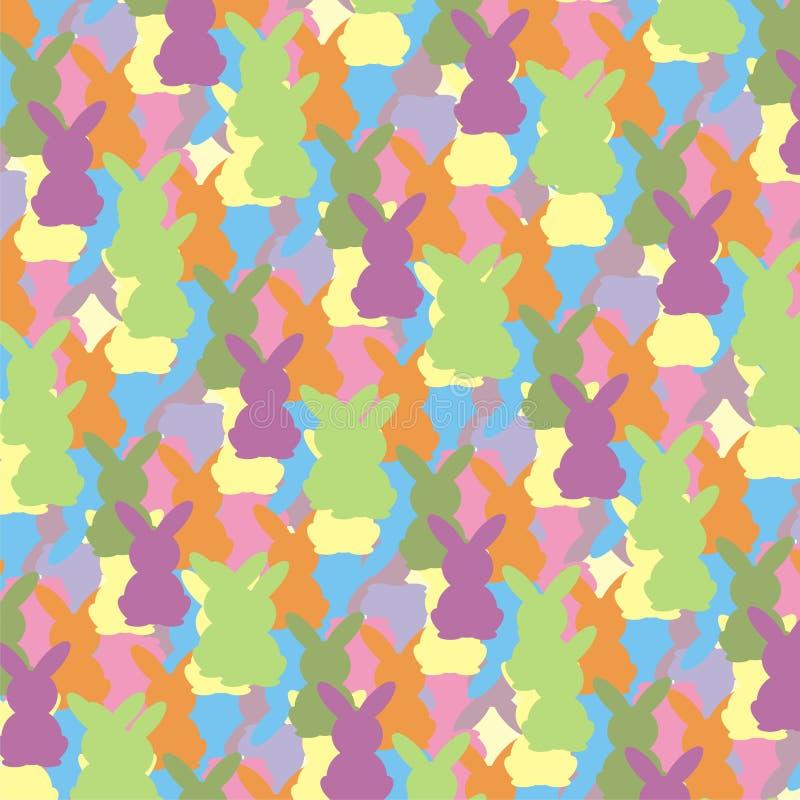 Wielkanocnego królika kolorowy wzór fotografia stock