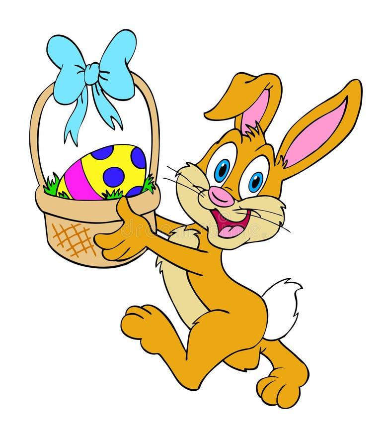 Wielkanocnego królika kosz ilustracji