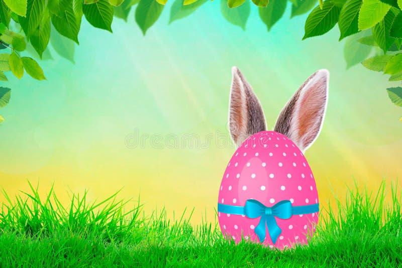 Wielkanocnego królika prezenta jajeczny opakunkowy diy pomysł Minimalny Easter pojęcie royalty ilustracja