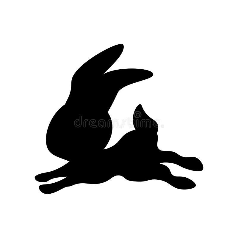 Wielkanocnego królika sylwetka royalty ilustracja