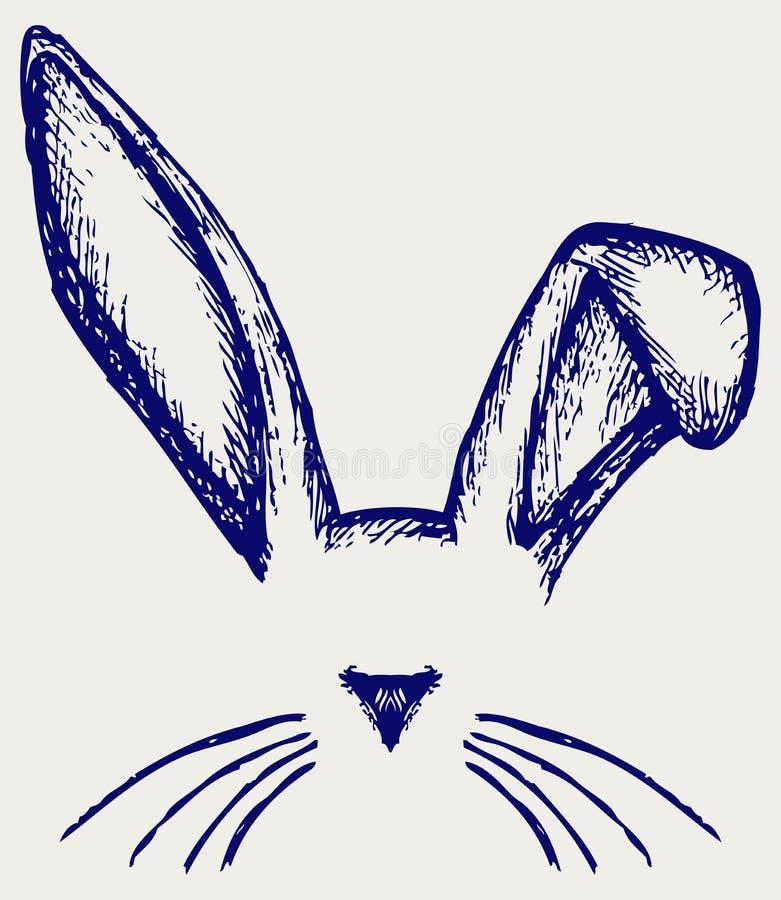 Wielkanocnego królika ucho ilustracja wektor