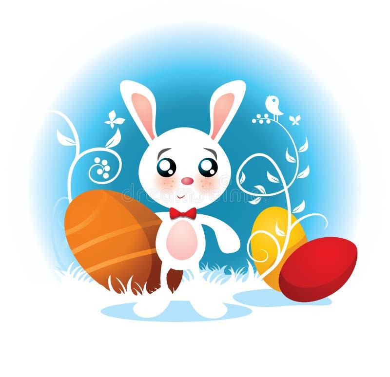 Wielkanocnego królika wektoru kreskówka royalty ilustracja